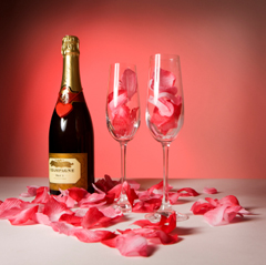 Rose Petals in Champagne