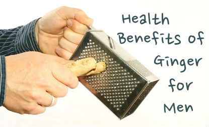 Health Benefits of Ginger for Men - Picture of a Man's Hand Grating Fresh Ginger