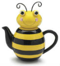 honey bee ceramic teapot